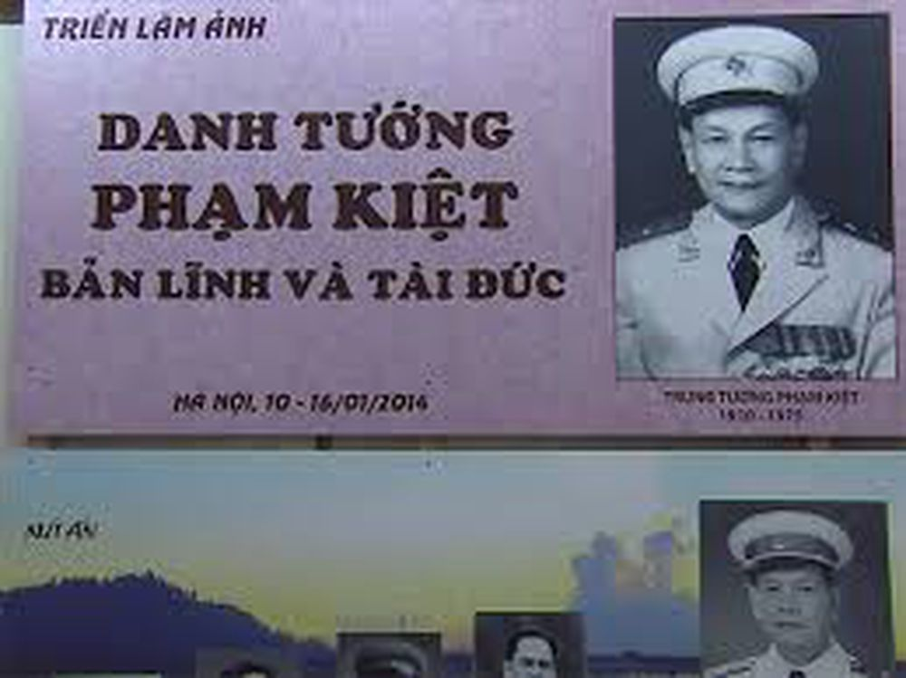 Tướng Phạm Kiệt sống mãi với thời gian