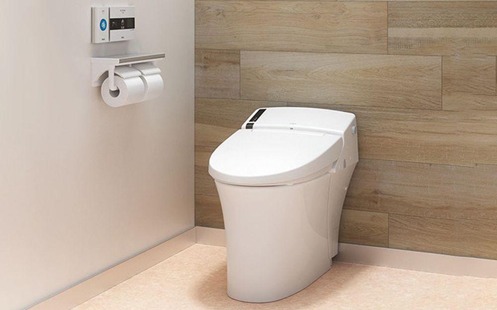 Nhiều nhà vệ sinh công cộng có gắn một thiết bị treo tường, mà khi ấn vào  sẽ tạo ra một âm thanh nhằm khỏa lấp âm thanh không mấy êm ái ...