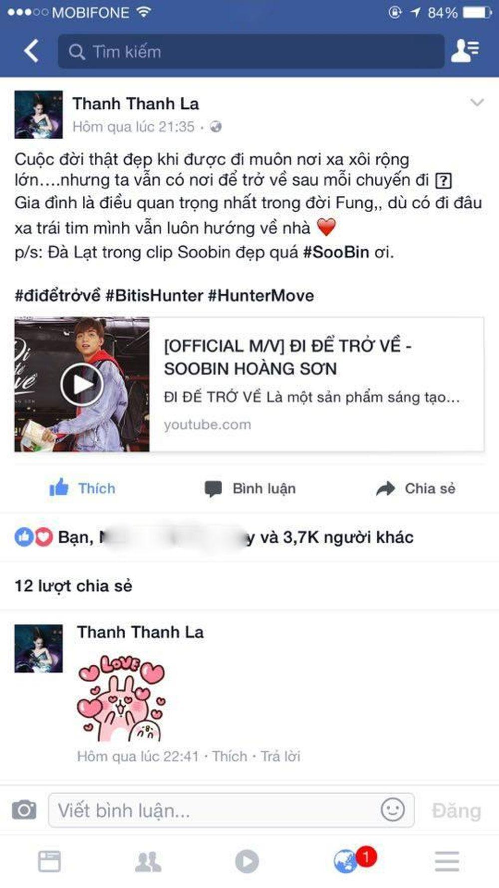 Người mẫu Fung La dành lời khen ngợi cho MV mới của Soobin Hoàng Sơn
