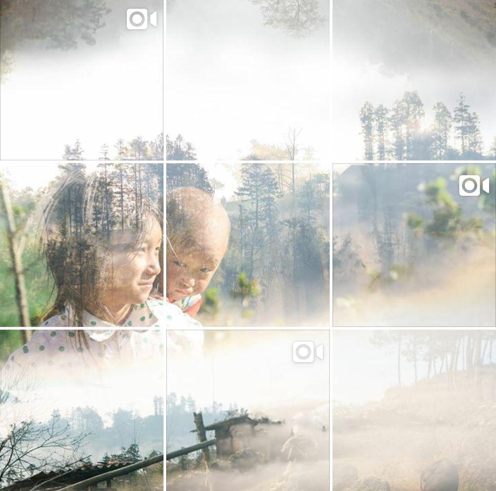 Những bức ảnh được ghép với nhau thành câu chuyện liền mạch. Ảnh chụp màn hình.