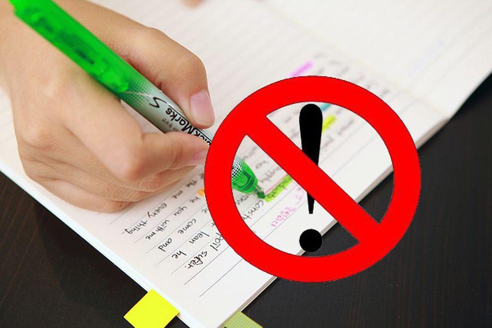 Dùng bút đánh dấu làm khó ghi nhớ hơn
