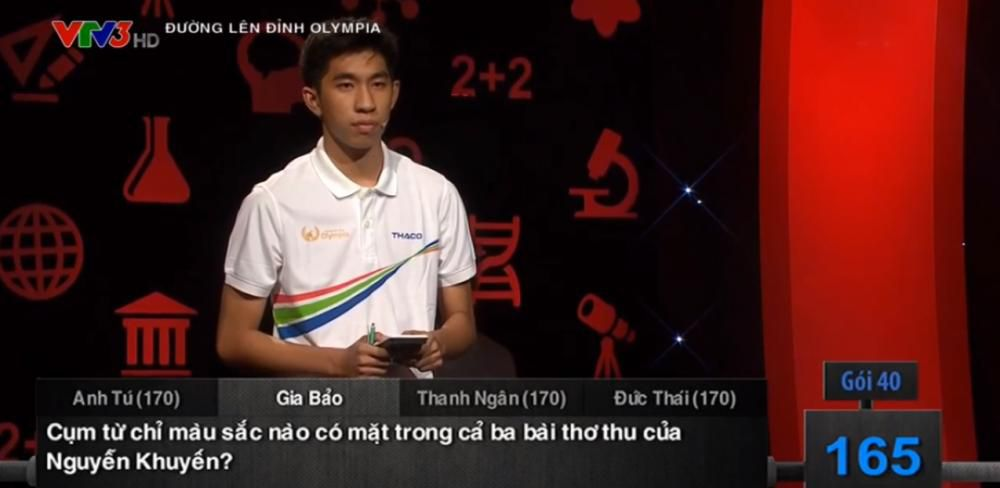 Trần Gia Bảo có sự hiểu biết kiến thức rất rộng, ảnh cắt clip VTV