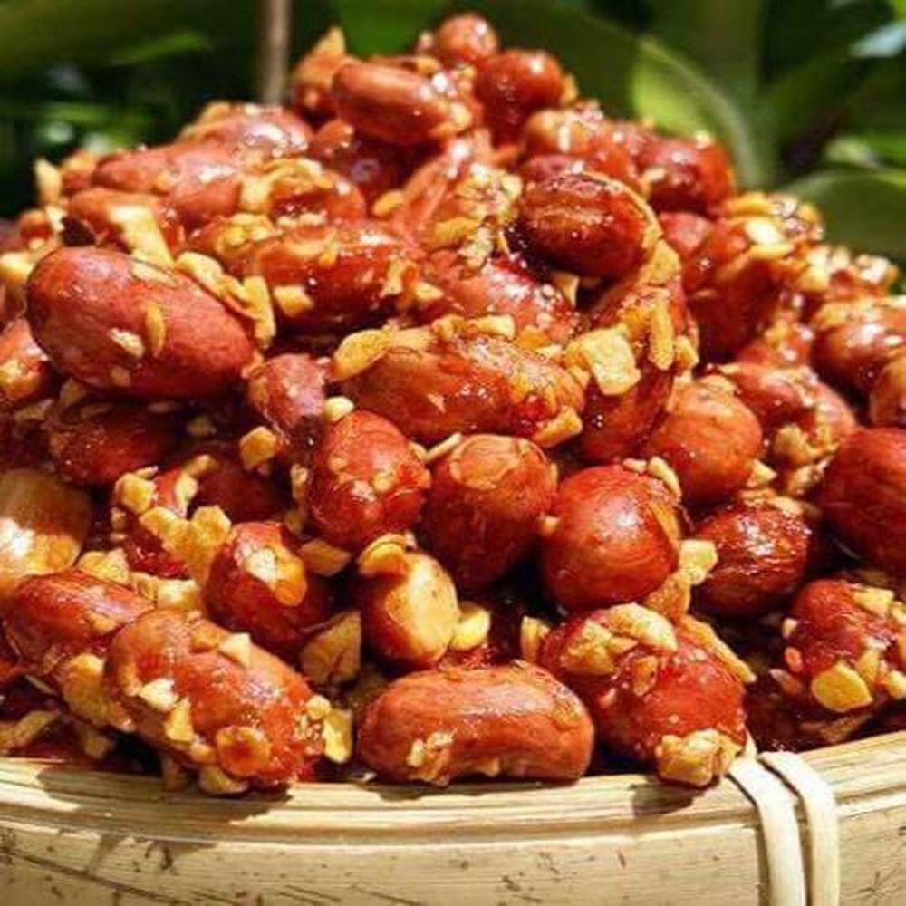 Đậu phộng [ Lạc ] rang tỏi ớt ngon - Cách làm đậu phộng rang tỏi ớt đơn giản