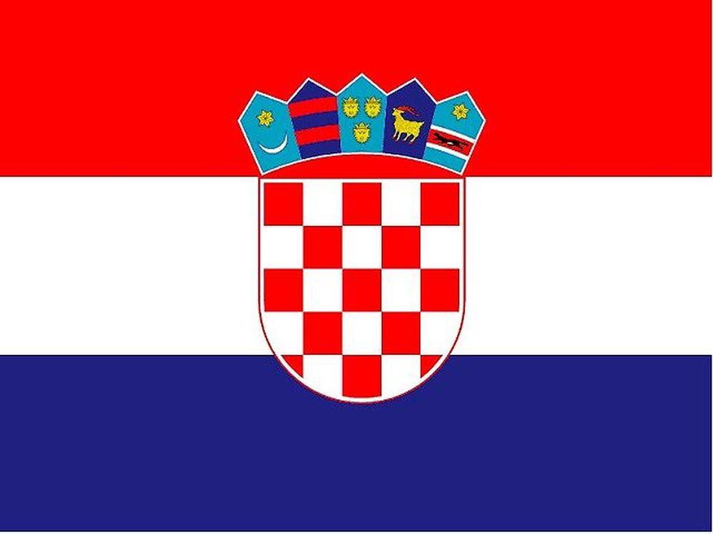 Quốc Kì Croatia Có Ba Dải Màu Nằm Ngang, Từ Trên Xuống Dưới Là Các Màu Đỏ,  Trắng, Xanh. Ở Giữa Ba Dải Màu Là Hình Ảnh Quốc Huy Của Đất Nước ...