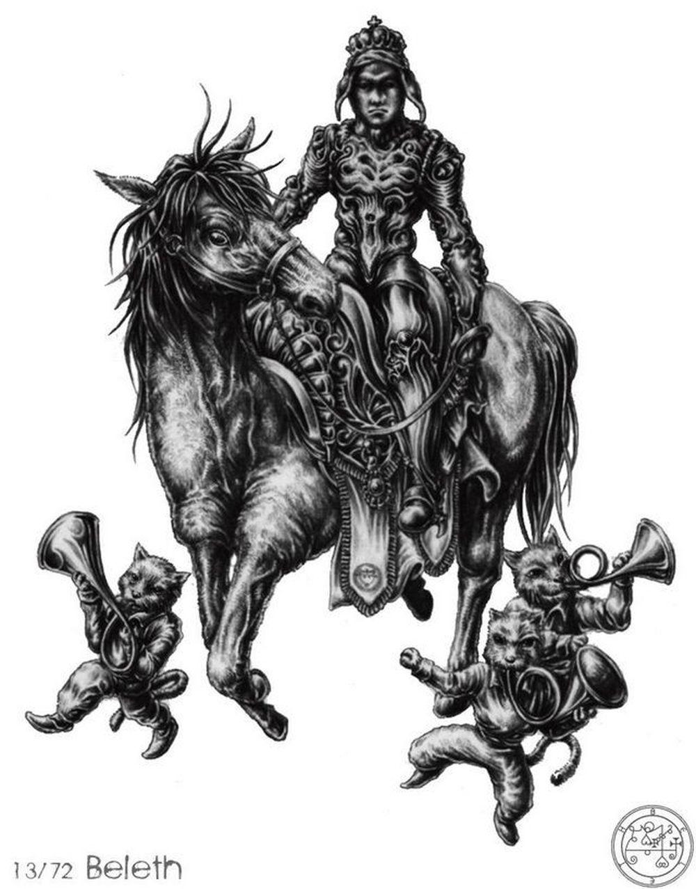 Một trong những vị vua mạnh mẽ của địa ngục, nắm trong tay 85 binh đoàn quỷ  dữ. Xuất hiện với người đàn ông cưỡi trên mình con ngựa trắng xung quanh ...