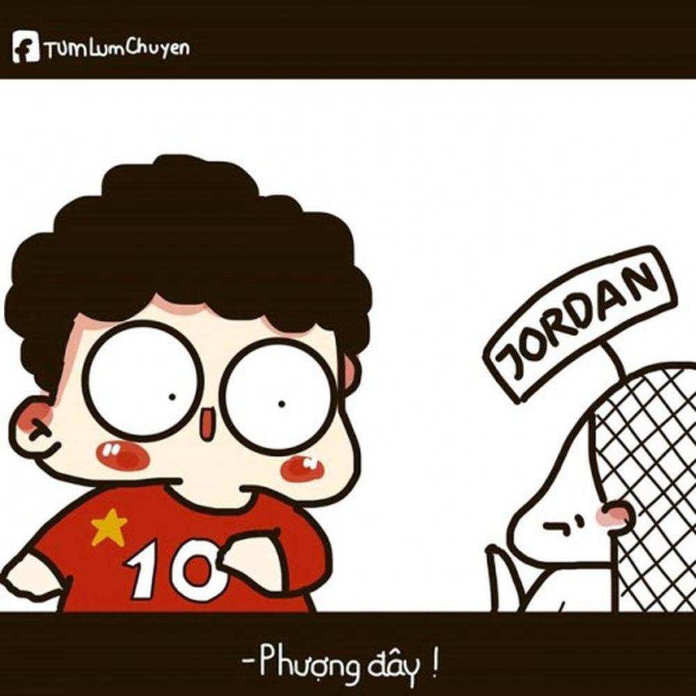 Công Phượng luôn biết trở thành người hùng đúng lúc với bàn gỡ hòa 1-1 cho tuyển Việt Nam ngay đầu hiệp 2. Ảnh: Tùm Lum Chuyện.