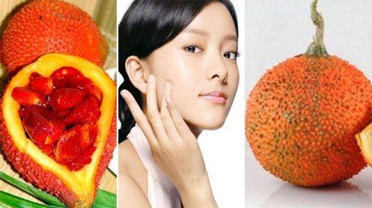 Image result for Gấc và các sản phẩm từ gấc có công dụng tuyệt vời trong làm đẹp da.
