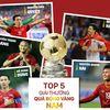Quang Hải và Văn Hậu sẽ cạnh tranh với những đàn anh như Quang Hải, Hùng Dũng, Trọng Hoàng cho danh hiệu Quả bóng Vàng Việt Nam 2019.