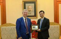 Thứ trưởng Bộ KH&CN Bùi Thế Duy tiếp Tổng Cục trưởng Rospatent