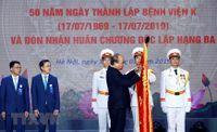 Hình ảnh Thủ tướng dự lễ kỷ niệm 50 năm ngày thành lập Bệnh viện K