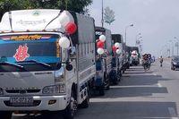 Bất ngờ với màn rước dâu bằng xe tải của một chú rể ở Thái Bình