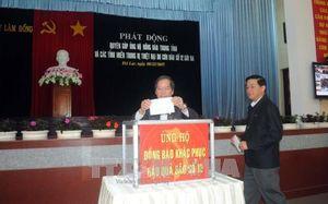 Hỗ trợ đồng bào các tỉnh miền Trung, Tây Nguyên khắc phục hậu quả bão số 12