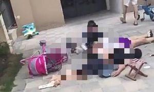 Hai mẹ con thương vong vì bị người nhảy lầu rơi trúng