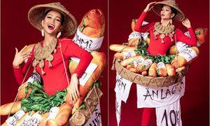 H'Hen Niê diện trang phục 'bánh mì 10K': Sáng tạo hay hàng chợ?