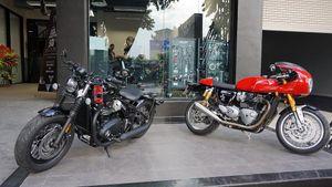 Loạt môtô khủng Triumph 'khoe mã' tại Hà Nội