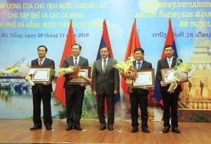 Tập thể và cá nhân của Đà Nẵng nhận Huân chương của Chủ tịch nước Lào