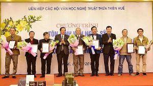 Lễ trao tặng thưởng và tôn vinh văn nghệ sĩ Thừa Thiên Huế trong năm 2018