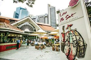 Chợ Xóm Chiếu nhìn từ Lau Pa Sat Singapore