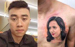 Chàng trai chịu đau 9 tiếng để xăm chân dung vợ lên ngực, cư dân mạng bày tỏ sự băn khoăn
