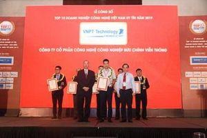 Hai đơn vị của VNPT lọt Top 10 doanh nghiệp công nghệ Việt Nam uy tín năm 2019