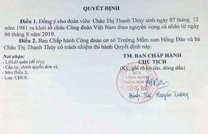 Cô giáo viết đơn xin ra khỏi công đoàn được chấp thuận