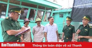 BĐBP Thanh Hóa khẩn trương kêu gọi tàu thuyền tránh trú bão số 4