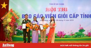 Hội thi Báo cáo viên giỏi cấp tỉnh năm 2019: Báo cáo viên Nguyễn Phú Khương xuất sắc đạt giải nhất