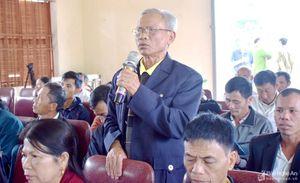 Đại biểu HĐND tỉnh khóa XVII tiếp xúc cử tri trước kỳ họp thứ 12
