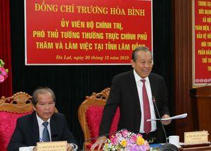 Phó Thủ tướng làm việc với Ban Thường vụ tỉnh Lâm Đồng