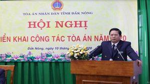 TAND hai cấp tỉnh Đắk Nông: Đẩy nhanh tiến độ, nâng cao chất lượng xét xử các vụ án
