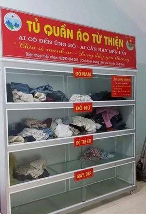 Tủ quần áo cũ ấm lòng bệnh nhân nghèo