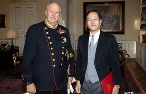 Đại sứ Lê Hồng Lam trình Thư ủy nhiệm lên Nhà vua Na Uy