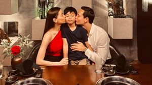 Chuyện showbiz: Hồ Ngọc Hà và Kim Lý ngọt ngào thơm má con trai Subeo