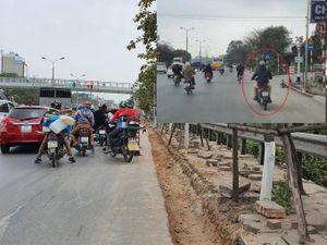 'Qua mặt' Sở, dự án cải tạo đường Ngọc Hồi tiếp tục gây mất ATGT