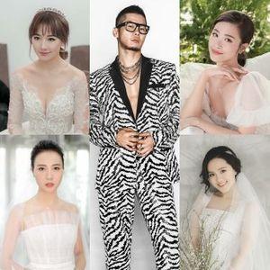 Những màn 'phù phép' của chuyên gia trang điểm Tee Le cho dàn cô dâu đình đám V-biz