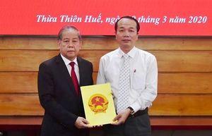 Bổ nhiệm Giám đốc Sở Tài chính tỉnh Thừa Thiên Huế