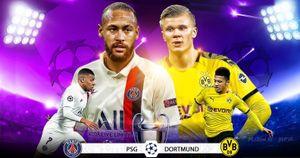 Đội hình dự kiến PSG - Dortmund: Neymar, Mbappe tiếp Sancho, Haaland