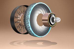 Lốp xe có khả năng tự phục hồi hư hỏng có thể xuất hiện trong tương lai