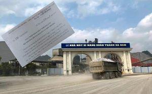 Xi măng Xuân Thành tận thu từ khoáng sản khi chưa có giấy phép