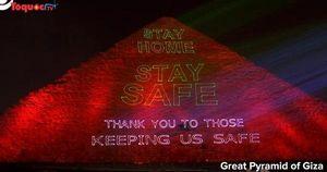 Ai Cập: Gửi thông điệp kêu gọi người dân ở nhà thắp sáng trên kim tự tháp