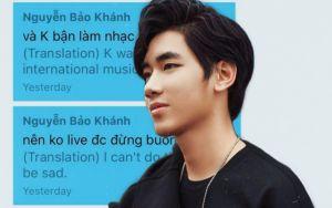 K-ICM tiết lộ lý do 'lỡ hẹn' livestream gặp fan: 'Khánh bận làm nhạc phim Quốc tế'