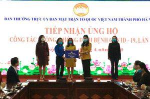 Tuổi trẻ các cơ quan Hà Nội trao tặng 2,5 tấn gạo ủng hộ phòng chống dịch Covid-19