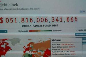 Mỗi người Việt 'gánh' hơn 851 USD nợ công