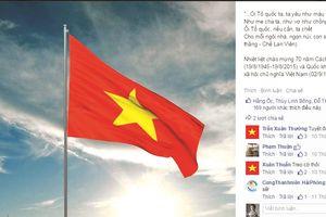 Facebook rực đỏ cờ Tổ quốc