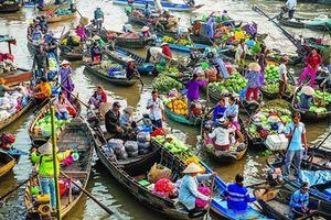 Tuyệt đẹp chợ nổi Việt Nam trên báo Tây
