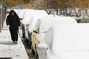 Chùm ảnh tuyết trắng đầu mùa bao trùm thủ đô Bắc Kinh