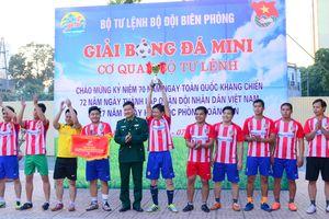 Bế mạc giải bóng đá mini cơ quan Bộ Tư lệnh BĐBP