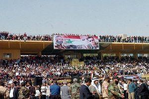 Biển người dự đám tang tướng Syria thiệt mạng ở Deir Ezzor