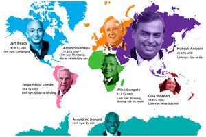 Ai là người giàu nhất ở mỗi châu lục?