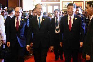 Chủ tịch nước Trần Đại Quang tiếp các nhà lãnh đạo APEC